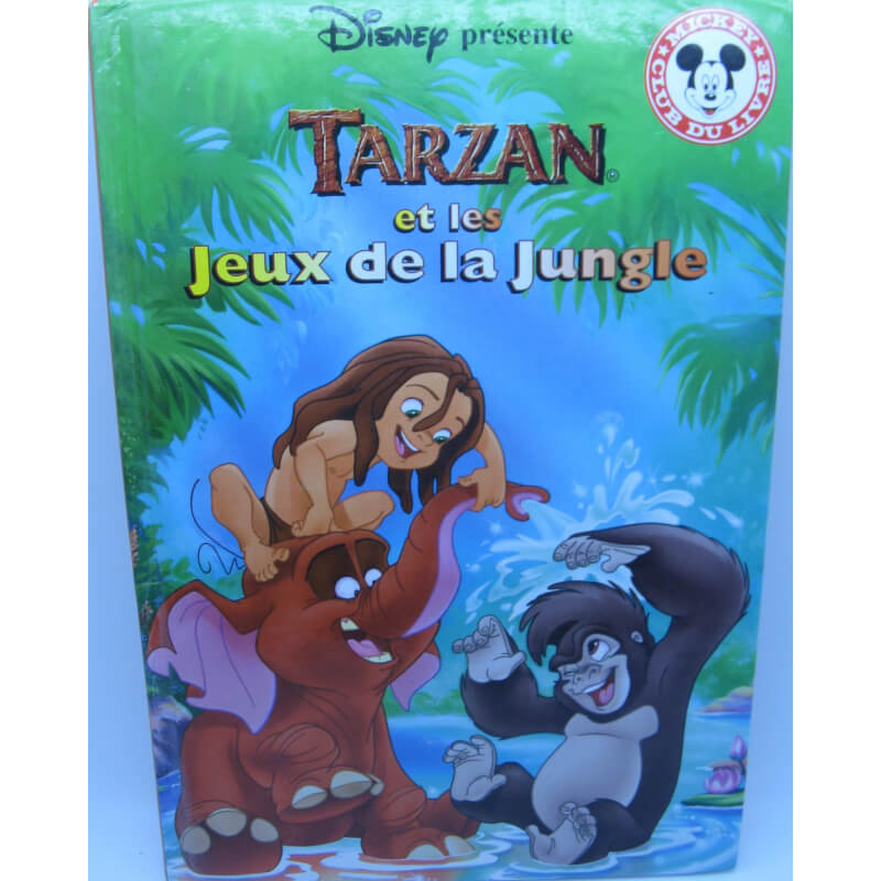 livre walt disney tarzan et les jeux de la jungle. Black Bedroom Furniture Sets. Home Design Ideas