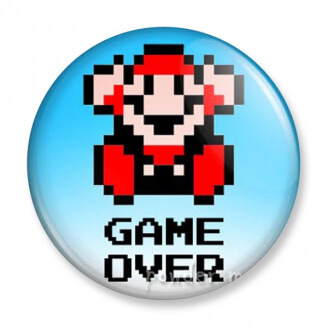 Badge : Mario - Game Over
