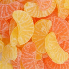 Bonbons tranches de fruits orange et citron