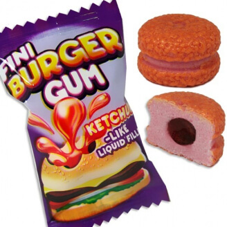 Chewing-gum : Burger - Lot de 5