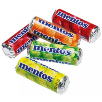 Mini Mentos aux fruits - Lot de 5