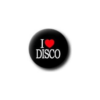 Badge : I love disco (noir)