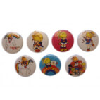 Lot de 7 badges - Blondine au pays de l'arc-en-ciel / Rainbow Brite