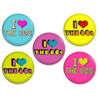 Badge : I love the 80's
