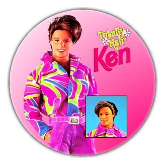 Badge : Ken Totally Hair (Barbie)
