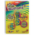 Lot de 5 badges - HIPPIE