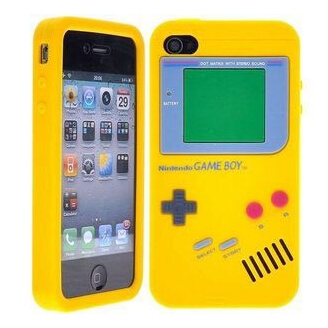 Coque iPhone 4/4S - Console rétro - Jaune