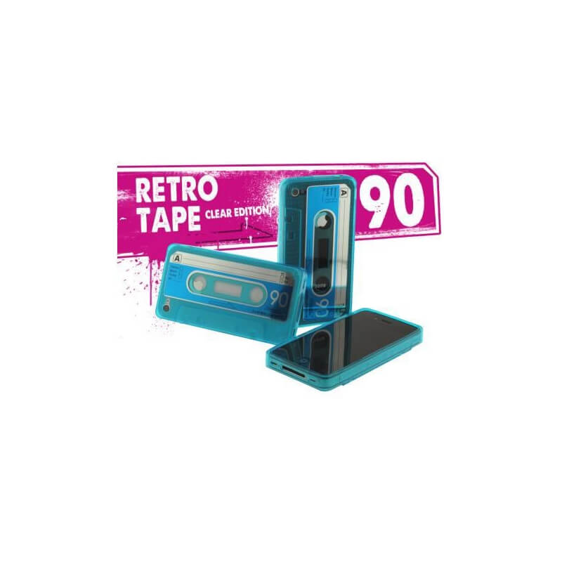 Coque iPhone 4/4S Retro Tape - Bleu