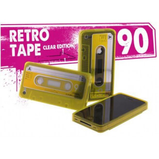 Coque iPhone 4/4S Retro Tape - Jaune