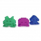 Gommes Space Invaders (lot de 3)