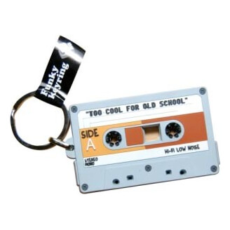 Porte-clés : Cassette audio (K7) - Too cool for old school