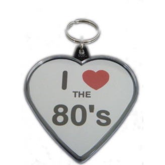 Porte-clés : I love the 80's