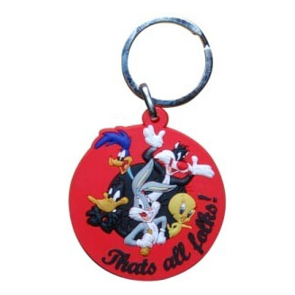 "Porte-clés : Looney Tunes - Logo ""Thats all Folks !"""