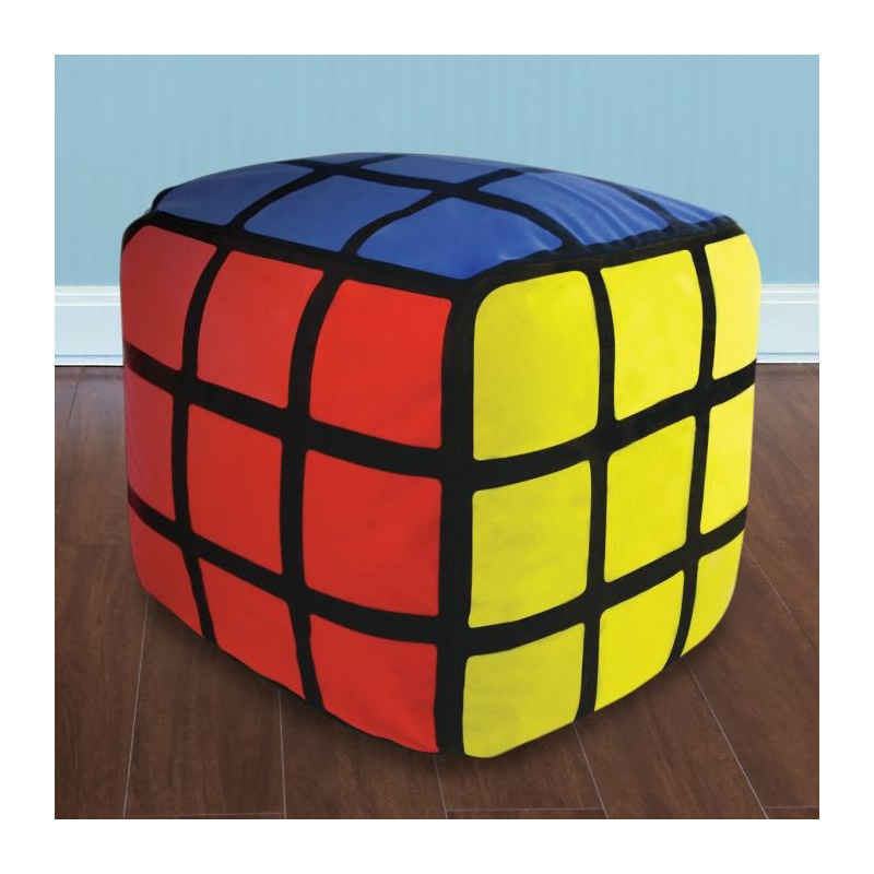 pouf gonflable rubik 39 s cube. Black Bedroom Furniture Sets. Home Design Ideas