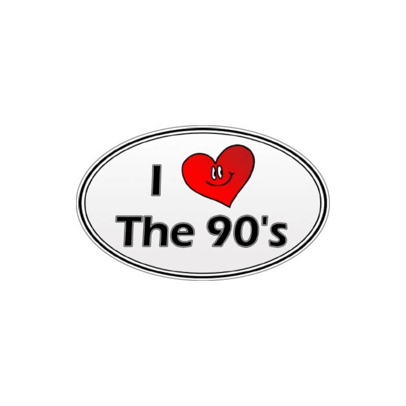 "Sticker - Autocollant ""I love the 90's"""