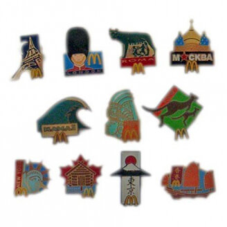 "Pin's Mc Donald's : Collection ""Tour du Monde"""