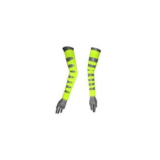 Arm Warmers jaune fluo à trous