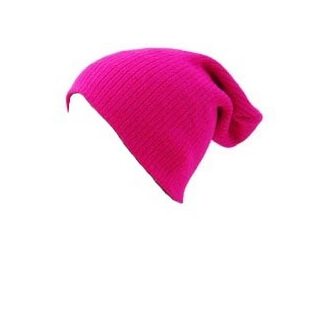 Bonnet rose fluo
