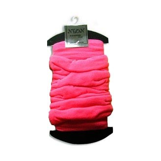 Leg Warmers : jambières fines rose fluo