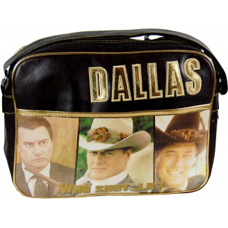 Sac à bandoulière en cuir - Dallas - Who Shot J.R ?