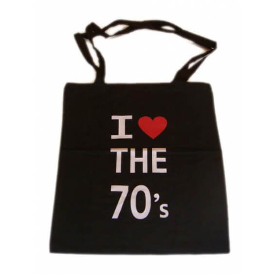 "Sac à bandoulière - ""I love the 70's"""
