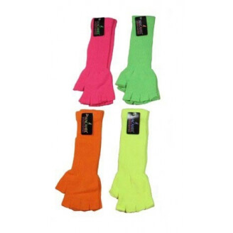 Mitaines longues fluo