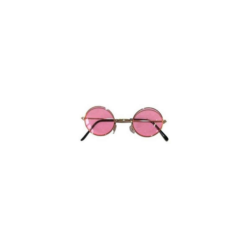 Lunettes rondes - Hippie - Baba Cool - rose