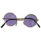 Lunettes rondes - Hippie - Baba Cool - violet