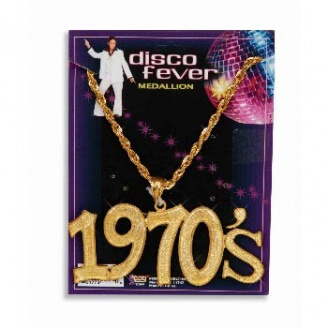 Image result for necklace 1970's disco fever