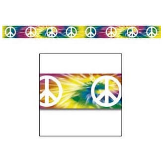 Ruban Peace and Love - Décoration Hippie