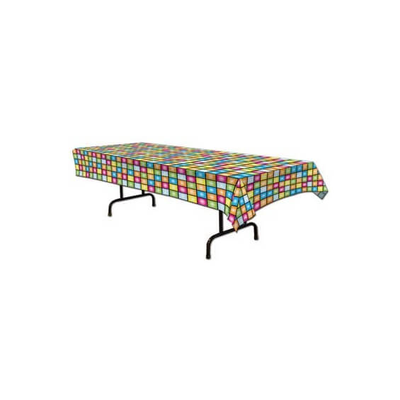 d coration de table nappe disco ann es 70 et 80. Black Bedroom Furniture Sets. Home Design Ideas