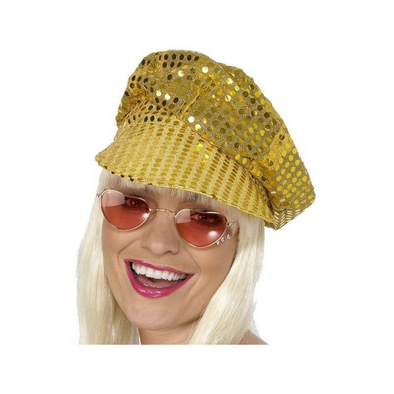 Casquette : Or à paillettes Disco
