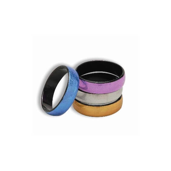 Lot de 4 bracelets colorés disco