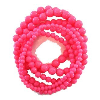 Lot de 6 bracelets rose fluo