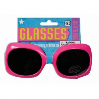 Lunettes larges rose fluo