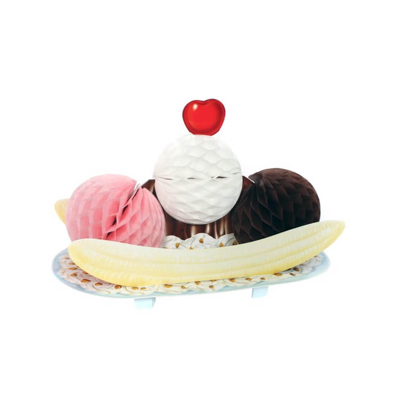 Décoration centre de table : Banana Split