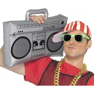 Poste radio ghetto blaster géant gonflable