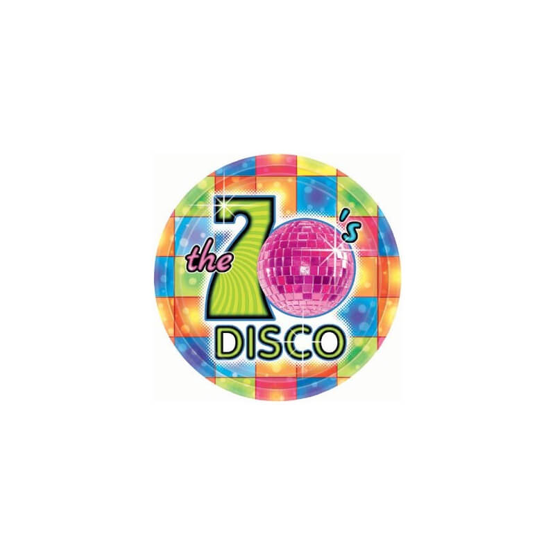 Assiettes en carton : The 70's Disco