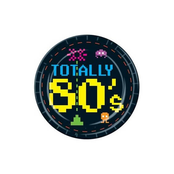 Assiettes en carton : Totally 80's