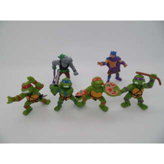 Tortues Ninja : lot de 6 figurines