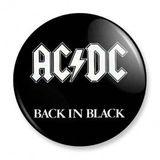 Badge : AC DC - Back in black