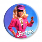 Badge : Barbie hôtesse de l'air
