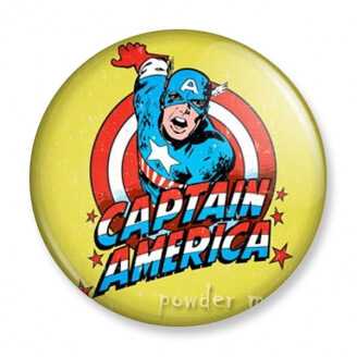 Badge : Captain America - Marvel