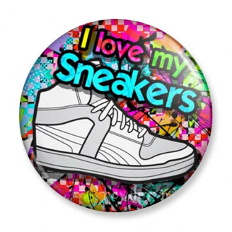 Badge : I love my Sneakers (baskets)