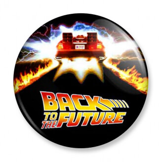 Badge : Retour vers le futur - DeLorean
