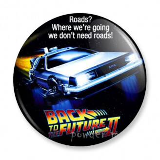 Badge : Retour vers le futur 2 - DeLorean