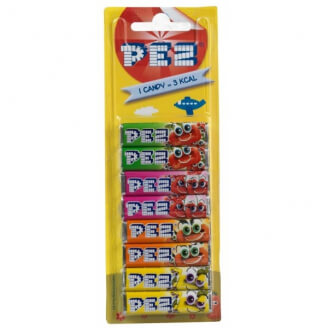 Recharges PEZ aux fruits