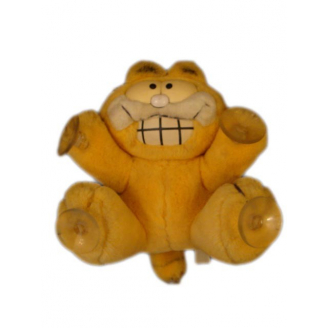"Peluche Vintage : Garfield avec badge ""Stuck on you !"""
