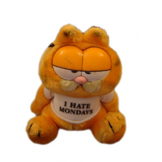 "Peluche Vintage : Garfield avec son t-shirt ""I hate Mondays"""