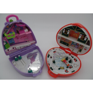 Polly Pocket - Spécial Noël - Lot de 2 univers